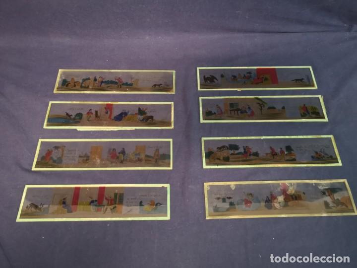 PLACAS DE CRISTAL PARA LINTERNA (Antigüedades - Técnicas - Aparatos de Cine Antiguo - Linternas Mágicas Antiguas)