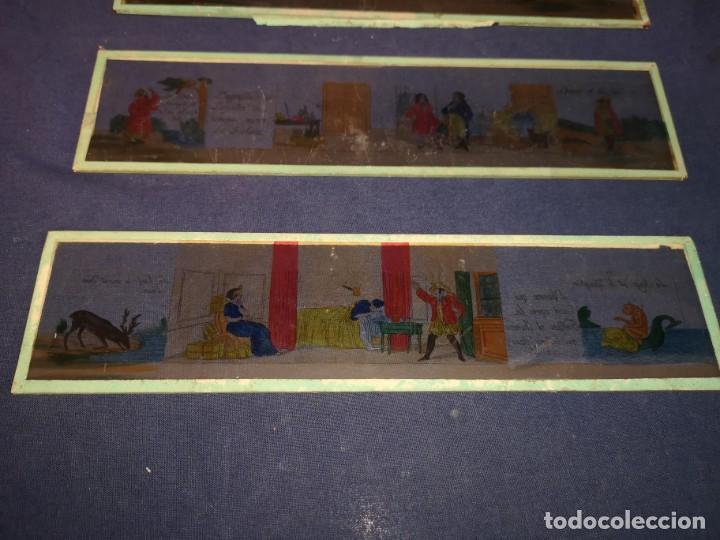 Antigüedades: PLACAS DE CRISTAL PARA LINTERNA - Foto 2 - 204417031