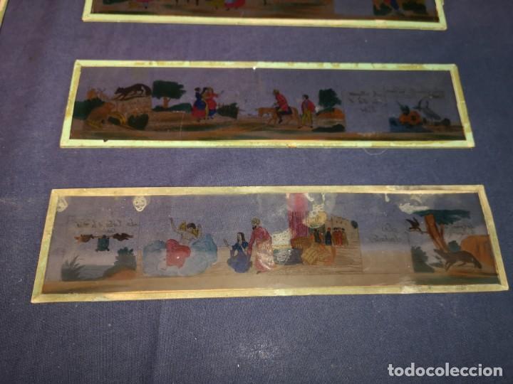 Antigüedades: PLACAS DE CRISTAL PARA LINTERNA - Foto 3 - 204417031
