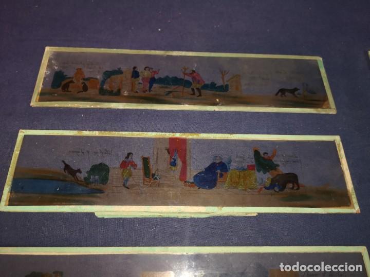 Antigüedades: PLACAS DE CRISTAL PARA LINTERNA - Foto 5 - 204417031