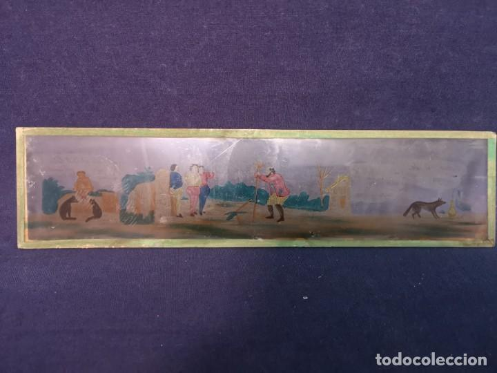 Antigüedades: PLACAS DE CRISTAL PARA LINTERNA - Foto 6 - 204417031