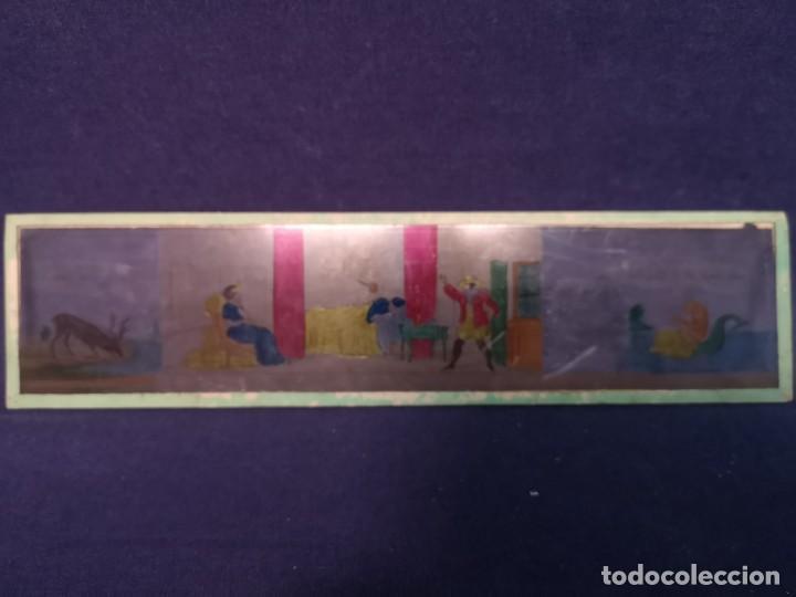 Antigüedades: PLACAS DE CRISTAL PARA LINTERNA - Foto 7 - 204417031