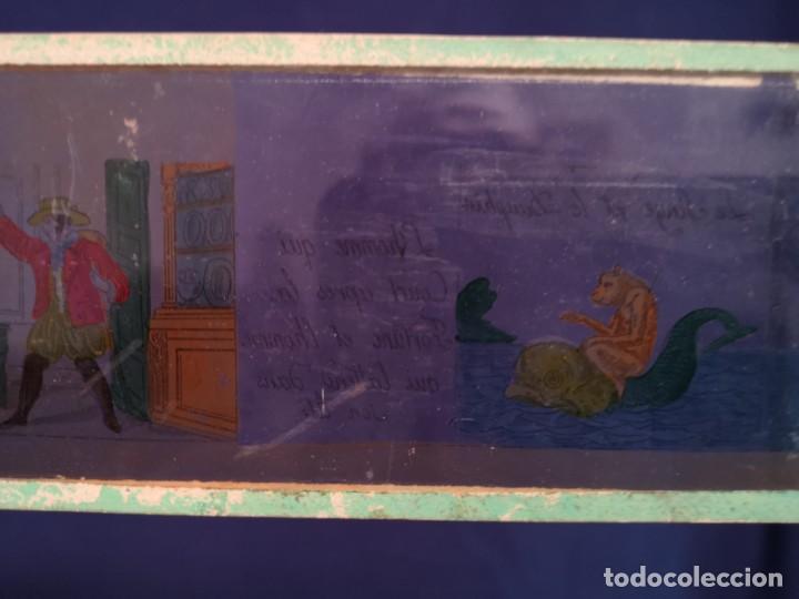 Antigüedades: PLACAS DE CRISTAL PARA LINTERNA - Foto 8 - 204417031