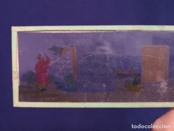 Antigüedades: PLACAS DE CRISTAL PARA LINTERNA - Foto 10 - 204417031