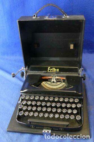 MAQUINA DE ESCRIBIR ERIKA 9 AÑOS 40 FUNCIONAL (Antigüedades - Técnicas - Máquinas de Escribir Antiguas - Erika)