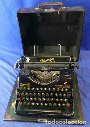 MÁQUINA DE ESCRIBIR RHEINMETALL,AÑOS 30 FUNCIONA Y EN BUEN ESTADO (Antigüedades - Técnicas - Máquinas de Escribir Antiguas - Otras)