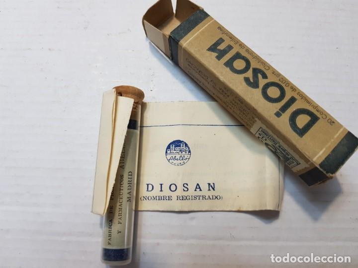 Antigüedades: Cajita antigua de Farmacia Diosan comprimidos - Foto 4 - 204447801