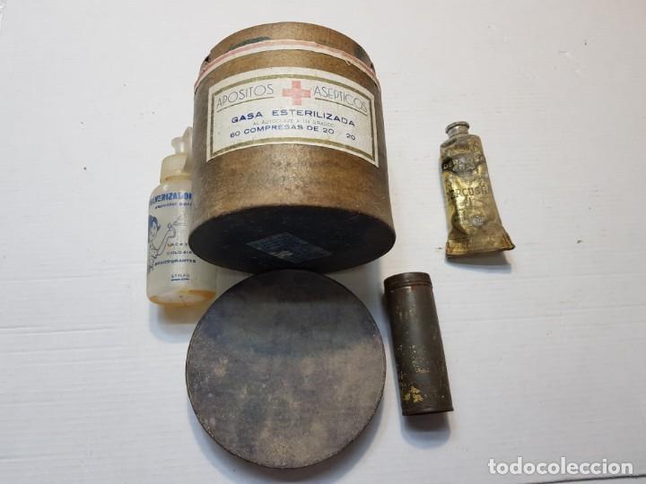 LOTE ANTIGUO CAJAS DE FARMACIA Y POMADA (Antigüedades - Técnicas - Herramientas Profesionales - Medicina)