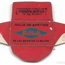 Antigüedades: ESPAÑA-FUNDA HOJA DE AFEITAR Y CUCHILLA MARCA MALA-LAMETTA DA BARBA, RAZOR BLADE,LAME DE RASOIR. Lote 204551461