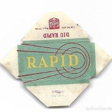 Antigüedades: ESPAÑA-FUNDA HOJA AFEITAR Y CUCHILLA MARCA RAPID -LAMETTA DA BARBA,RAZOR BLADE,LAME DE RASOIR. Lote 204601286