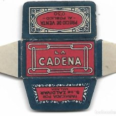 Antigüedades: ESPAÑA-FUNDA HOJA AFEITAR Y CUCHILLA MARCA LA CADENA -LAMETTA DA BARBA,RAZOR BLADE,LAME DE RASOIR. Lote 204602515