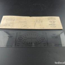 Antigüedades: REGLA DE CÁLCULO ADMIRAL JEAN CRAS PLOTTER / TOPOPLASTIC /. Lote 204629140