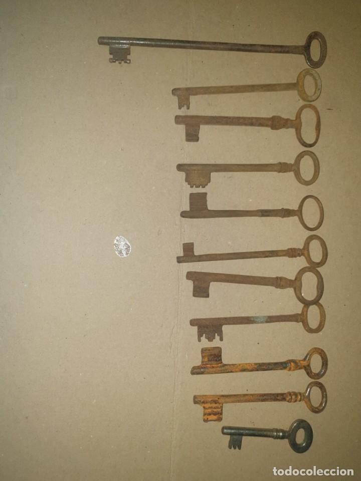 LOTE LLAVES 11 (Antigüedades - Técnicas - Cerrajería y Forja - Llaves Antiguas)