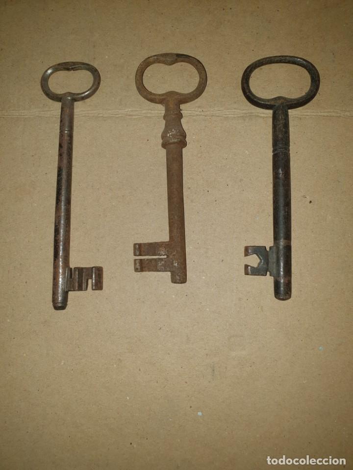 3 LLAVES (Antigüedades - Técnicas - Cerrajería y Forja - Llaves Antiguas)