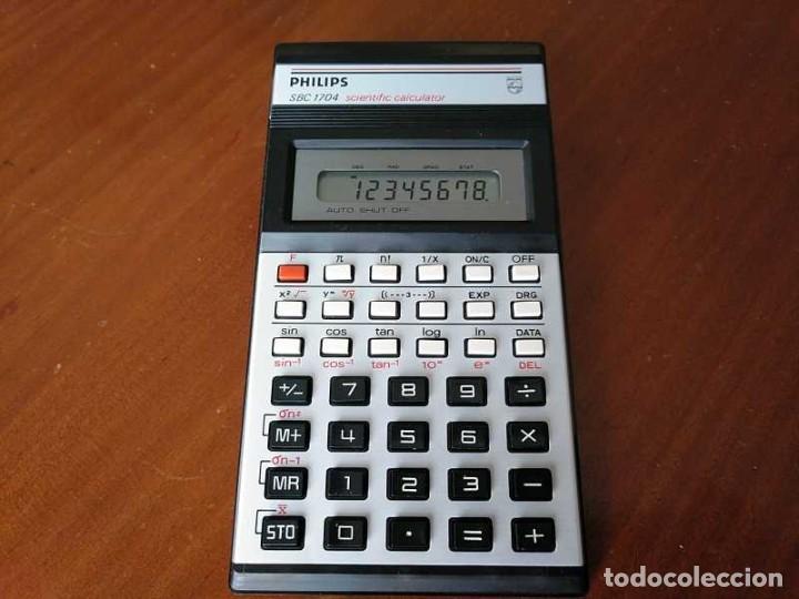 CALCULADORA PHILIPS SBC 1704 SCIENTIFIC CALCULATOR FUNCIONANDO, DE LOS AÑOS 80 SBC1704 (Antigüedades - Técnicas - Aparatos de Cálculo - Calculadoras Antiguas)