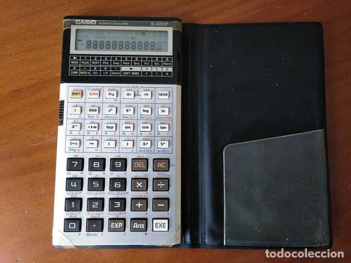 CALCULADORA CASIO FX-4000P SCIENTIFIC CALCULATOR CASIO FX 4000 P - FUNCIONANDO AÑOS 80 PROGRAMMABLE (Antigüedades - Técnicas - Aparatos de Cálculo - Calculadoras Antiguas)