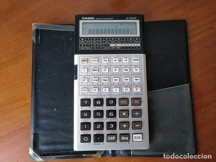 Antigüedades: CALCULADORA CASIO fx-4000P SCIENTIFIC CALCULATOR CASIO fx 4000 P - FUNCIONANDO AÑOS 80 PROGRAMMABLE - Foto 11 - 204684196