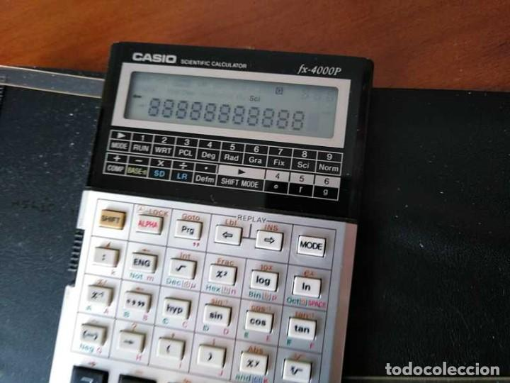 Antigüedades: CALCULADORA CASIO fx-4000P SCIENTIFIC CALCULATOR CASIO fx 4000 P - FUNCIONANDO AÑOS 80 PROGRAMMABLE - Foto 12 - 204684196