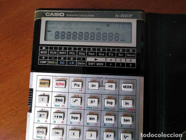 Antigüedades: CALCULADORA CASIO fx-4000P SCIENTIFIC CALCULATOR CASIO fx 4000 P - FUNCIONANDO AÑOS 80 PROGRAMMABLE - Foto 17 - 204684196