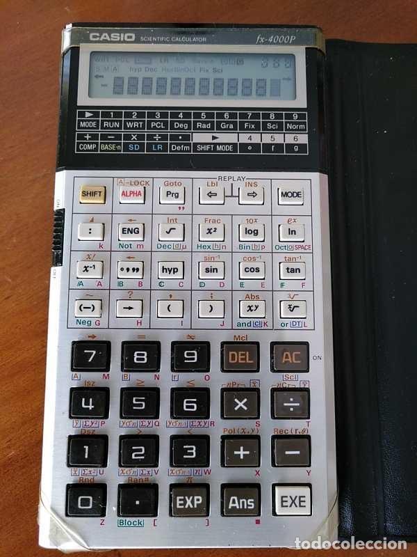 Antigüedades: CALCULADORA CASIO fx-4000P SCIENTIFIC CALCULATOR CASIO fx 4000 P - FUNCIONANDO AÑOS 80 PROGRAMMABLE - Foto 19 - 204684196