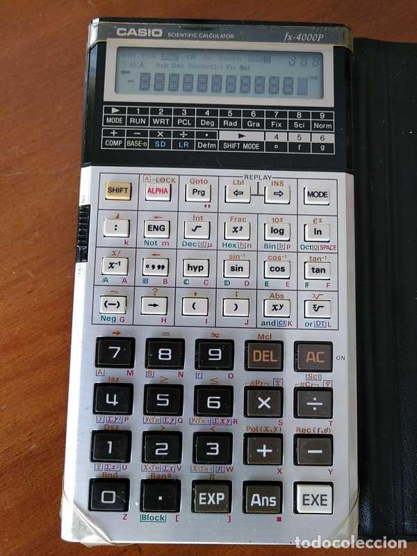Antigüedades: CALCULADORA CASIO fx-4000P SCIENTIFIC CALCULATOR CASIO fx 4000 P - FUNCIONANDO AÑOS 80 PROGRAMMABLE - Foto 20 - 204684196