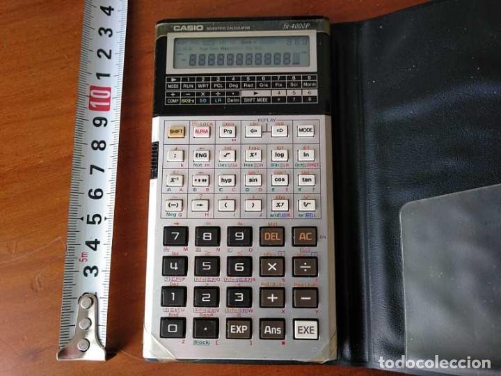Antigüedades: CALCULADORA CASIO fx-4000P SCIENTIFIC CALCULATOR CASIO fx 4000 P - FUNCIONANDO AÑOS 80 PROGRAMMABLE - Foto 23 - 204684196
