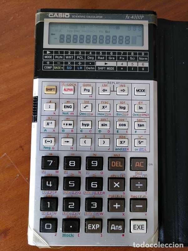 Antigüedades: CALCULADORA CASIO fx-4000P SCIENTIFIC CALCULATOR CASIO fx 4000 P - FUNCIONANDO AÑOS 80 PROGRAMMABLE - Foto 40 - 204684196