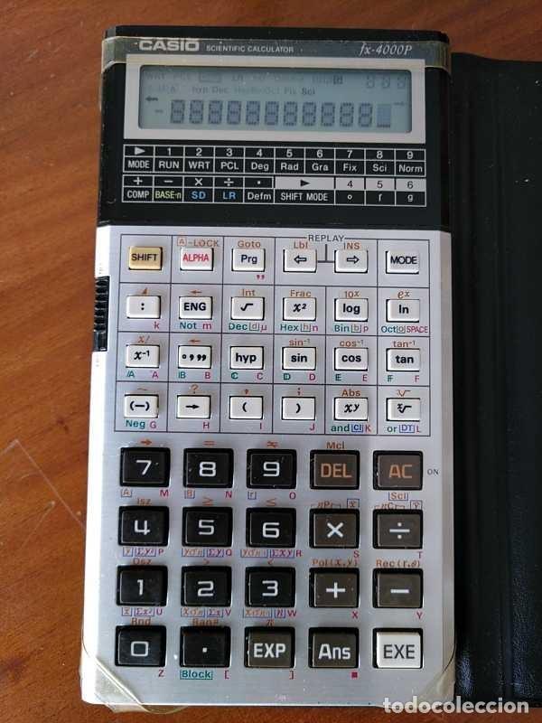 Antigüedades: CALCULADORA CASIO fx-4000P SCIENTIFIC CALCULATOR CASIO fx 4000 P - FUNCIONANDO AÑOS 80 PROGRAMMABLE - Foto 41 - 204684196
