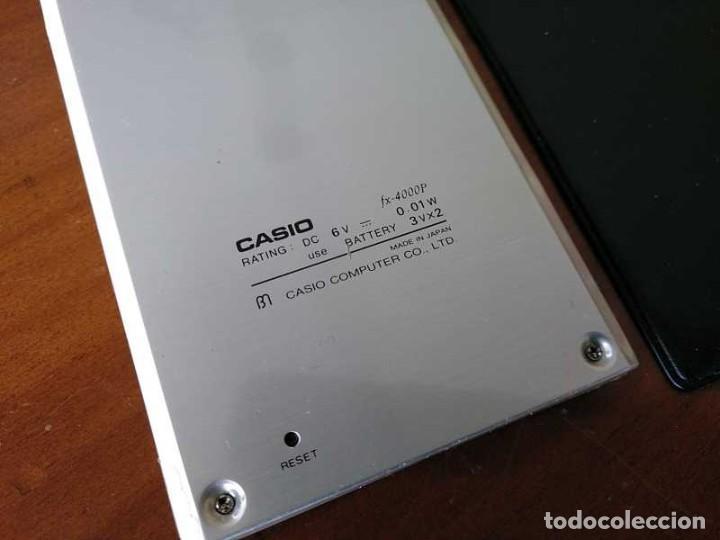 Antigüedades: CALCULADORA CASIO fx-4000P SCIENTIFIC CALCULATOR CASIO fx 4000 P - FUNCIONANDO AÑOS 80 PROGRAMMABLE - Foto 48 - 204684196