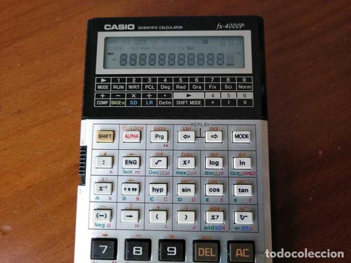 Antigüedades: CALCULADORA CASIO fx-4000P SCIENTIFIC CALCULATOR CASIO fx 4000 P - FUNCIONANDO AÑOS 80 PROGRAMMABLE - Foto 54 - 204684196