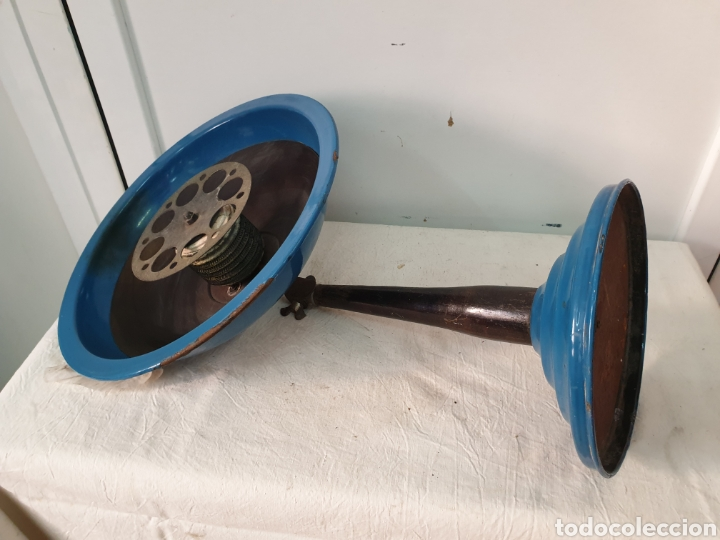 Antigüedades: Estufa de pantalla, hierro esmaltado - Foto 9 - 204744321