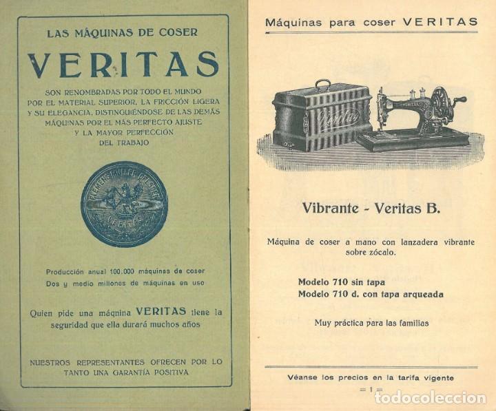 Antigüedades: MÁQUINAS PARA COSER VERITAS. - Foto 2 - 242817565