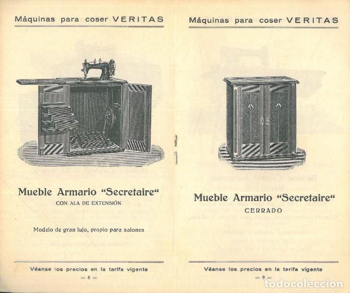 Antigüedades: MÁQUINAS PARA COSER VERITAS. - Foto 3 - 242817565