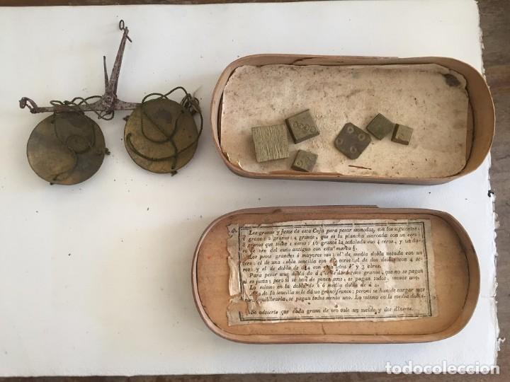 BALANZA PARA PESAR ORO (Antigüedades - Técnicas - Medidas de Peso - Balanzas Antiguas)