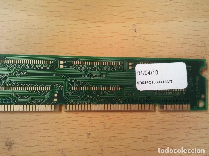 Antigüedades: antigua memoria RAM ampliable. B6666RB 128MB la fecha de fabricación es 01 04 10 Leer todo el anunci - Foto 8 - 204782446