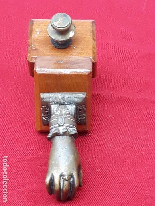 Antigüedades: LLAMADOR O ALDABA ANTIGUA EN BRONCE -3 - - Foto 2 - 204785591