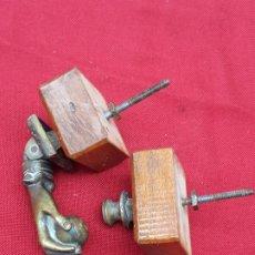 Antigüedades: LLAMADOR O ALDABA ANTIGUA EN BRONCE -3 -. Lote 204785591