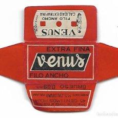 Antiquités: ESPAÑA-FUNDA HOJA AFEITAR Y CUCHILLA MARCA VENUS-LAMETTA DA BARBA,RAZOR BLADE,LAME DE RASOIR. Lote 204800843