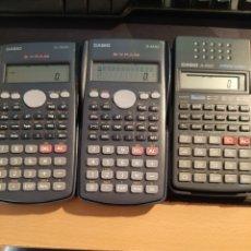 Antigüedades: 3 CALCULADORAS CASIO FX-82SX, FX-82MS, FX-350MS. Lote 204816330