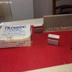 Antigüedades: FILOMATIC TITANIO - LOTE - AÑO 1971 - CAJA - PASTILLAS DE JABON. Lote 204983357