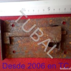 Antigüedades: TUBAL CERRADURA MUY ANTIGUA BJ1. Lote 205022785