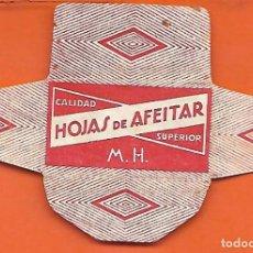 Antigüedades: ESPAÑA-FUNDA HOJA AFEITAR Y CUCHILLA MARCA HOJAS DE AFEITAR-LAMETTA DA BARBA,RAZOR BLADE,LAME DE. Lote 205041157
