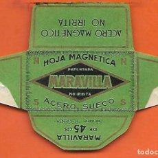 Antigüedades: ESPAÑA-FUNDA HOJA AFEITAR Y CUCHILLA MARCA MARAVILLA -LAMETTA DA BARBA,RAZOR BLADE,LAME DE RASOIR. Lote 205043190