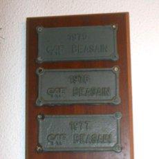 Antigüedades: CONJUNTO DE PLACAS ORIGINALES DE CAF. Lote 205074883