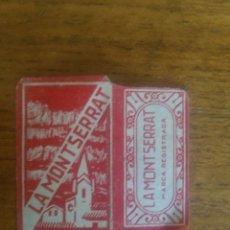 Antigüedades: FUNDA DE HOJA DE AFEITAR ANTIGUA - LA MONTSERRAT. Lote 205115922