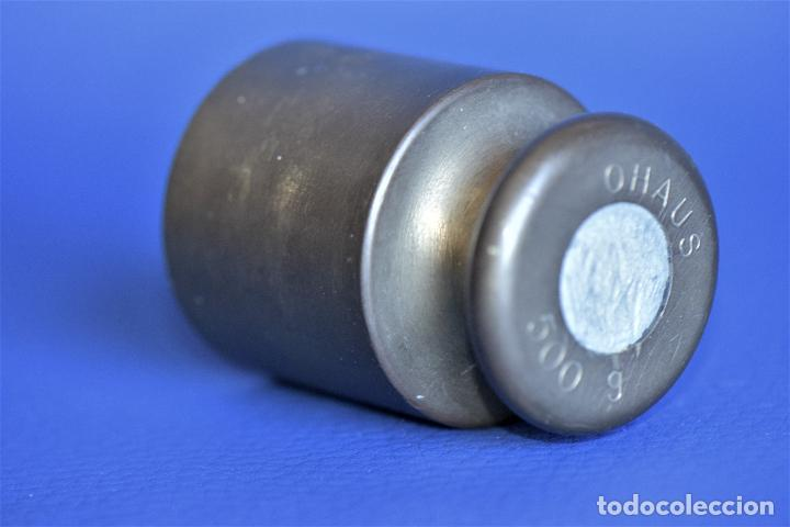 Antigüedades: PESA DE METAL DE 500 GRS OHAUS - Foto 3 - 205127170