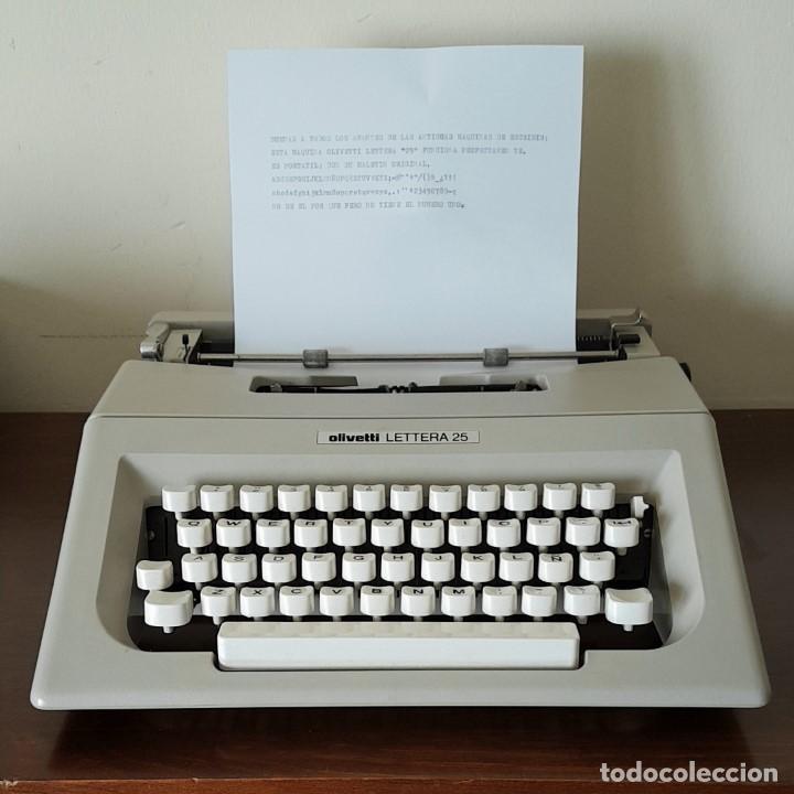 MAQUINA DE ESCRIBIR OLIVETTI LETTERA 25 AÑO 1972 ¡¡ MUY CUIDADA !! (Antigüedades - Técnicas - Máquinas de Escribir Antiguas - Olivetti)