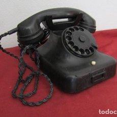 Teléfonos: TELÉFONO DE MESA ALEMÁN ANTIGUO DE BAQUELITA MODELO W38 HECHO EN ALEMANIA A PARTIR FINALES AÑOS 30. Lote 205168476