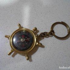 Antigüedades: BRUJULA NAUTICA LLAVERO. Lote 205179231