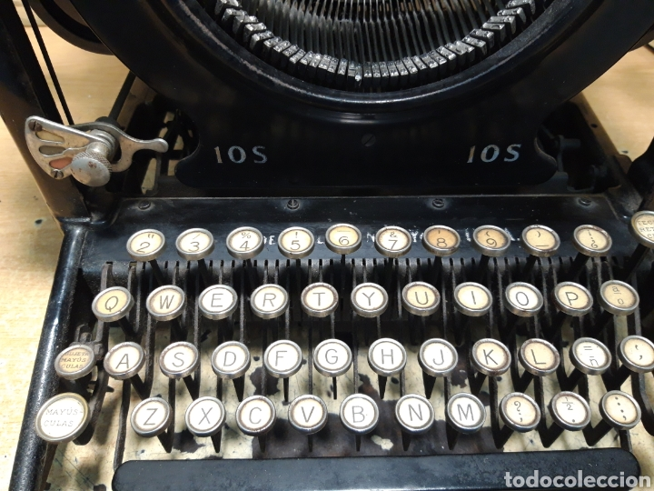 Antigüedades: Ántigua maquina de escribir Remingto 10S - Foto 2 - 205184595